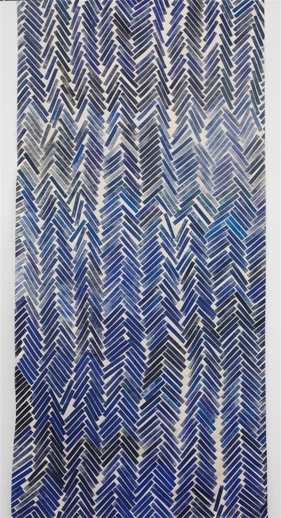 Block Printed Fabric Herringbone Print 1