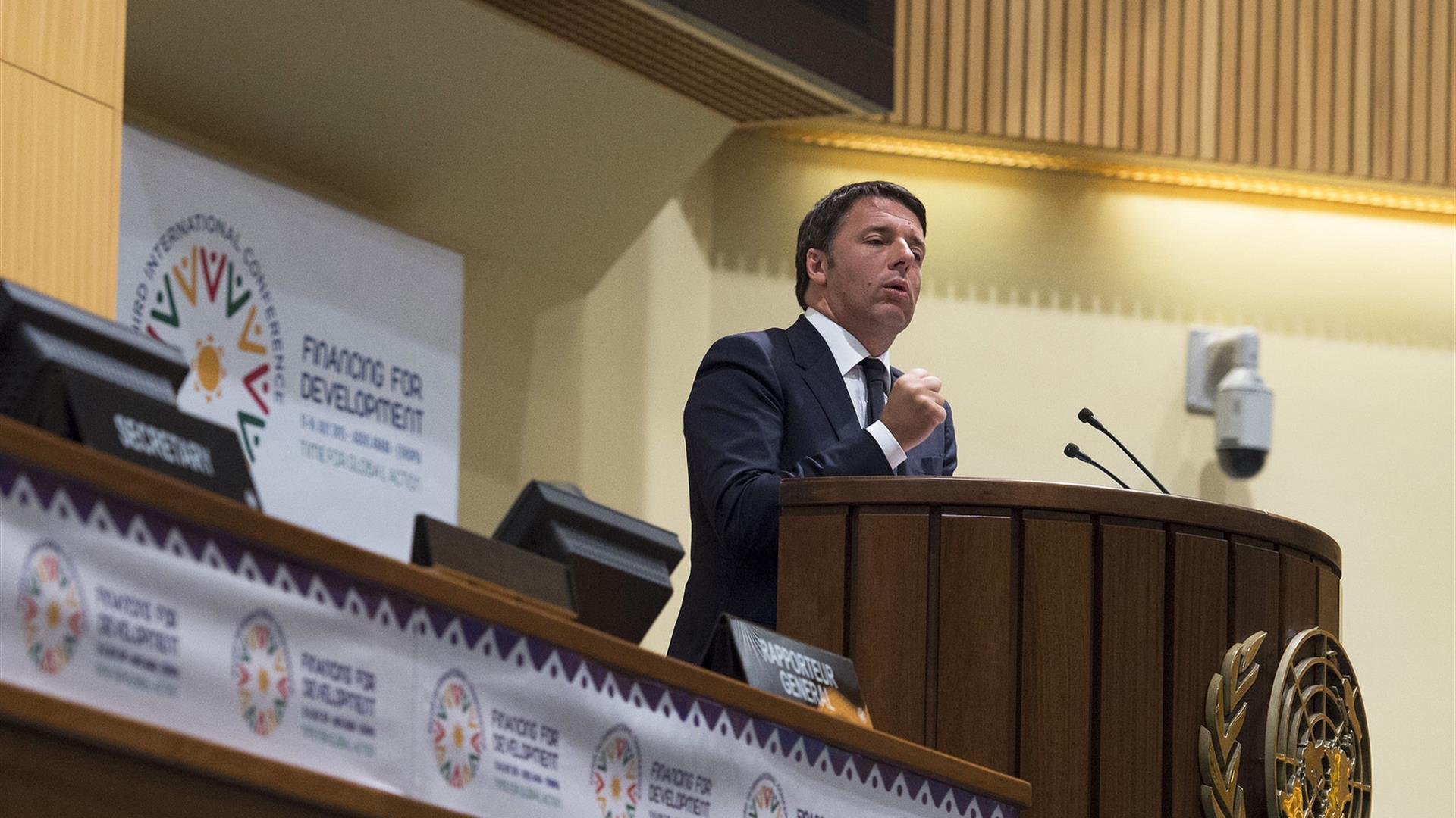 Renzi Speech UN Finance Conference Addis1