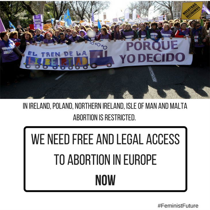 Where can i find information including websites and books on abortion in Europe?